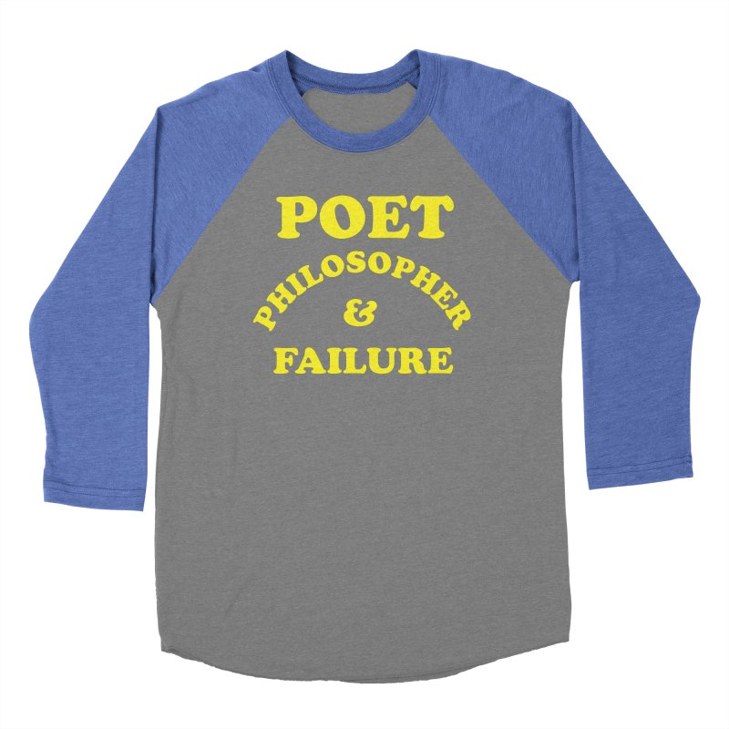 POET PHILOSOPHER & FAILURE (yllw) Men's Baseball Triblend Longsleeve T-Shirt by VOID MERCH