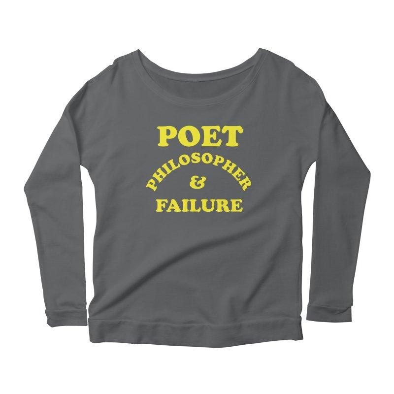 POET PHILOSOPHER & FAILURE (yllw) Women's Longsleeve T-Shirt by VOID MERCH