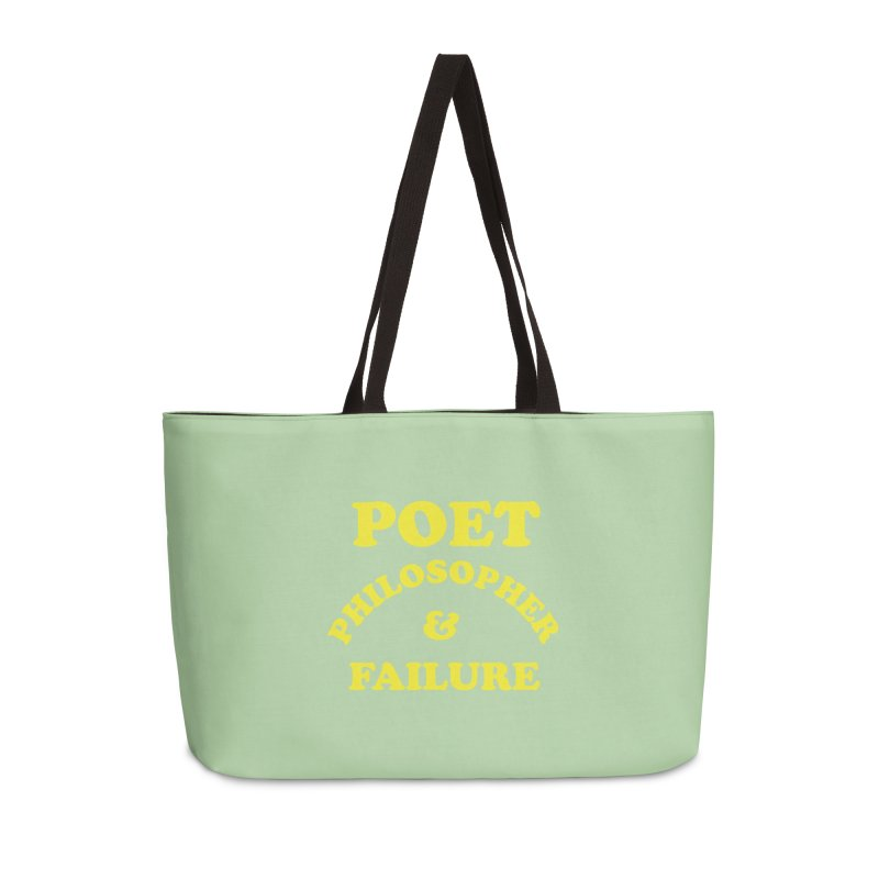POET PHILOSOPHER & FAILURE (yllw) Accessories Weekender Bag Bag by VOID MERCH