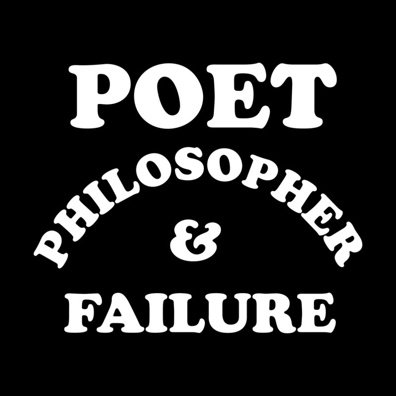 POET PHILOSOPHER & FAILURE (wht) Accessories Bag by VOID MERCH