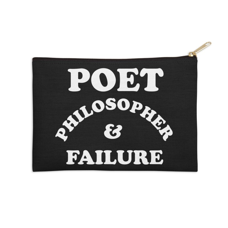 POET PHILOSOPHER & FAILURE (wht) Accessories Zip Pouch by VOID MERCH
