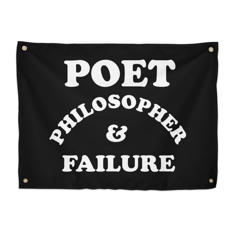 POET PHILOSOPHER & FAILURE (wht) Home Tapestry by VOID MERCH