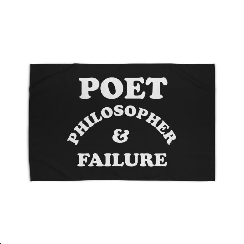 POET PHILOSOPHER & FAILURE (wht) Home Rug by VOID MERCH