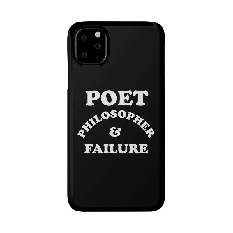 POET PHILOSOPHER & FAILURE (wht) Accessories Phone Case by VOID MERCH