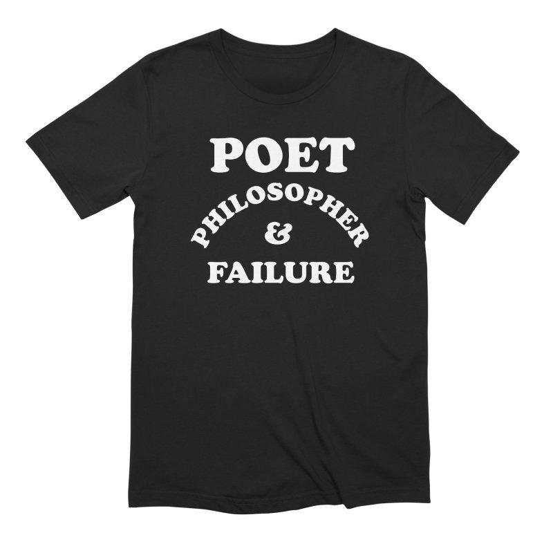 POET PHILOSOPHER & FAILURE (wht) in Men's Extra Soft T-Shirt Black by VOID MERCH