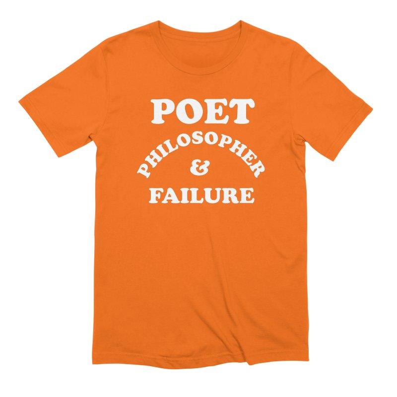 POET PHILOSOPHER & FAILURE (wht) Men's Extra Soft T-Shirt by VOID MERCH