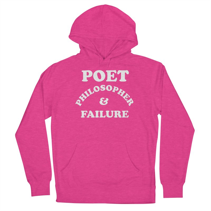 POET PHILOSOPHER & FAILURE (wht) Men's French Terry Pullover Hoody by VOID MERCH