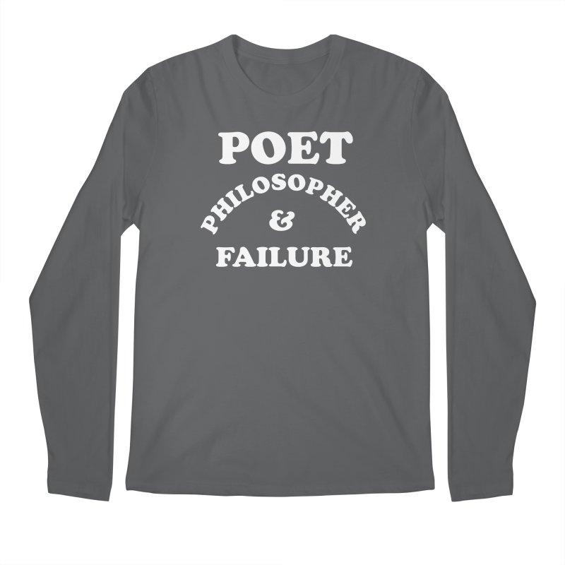 POET PHILOSOPHER & FAILURE (wht) Men's Regular Longsleeve T-Shirt by VOID MERCH