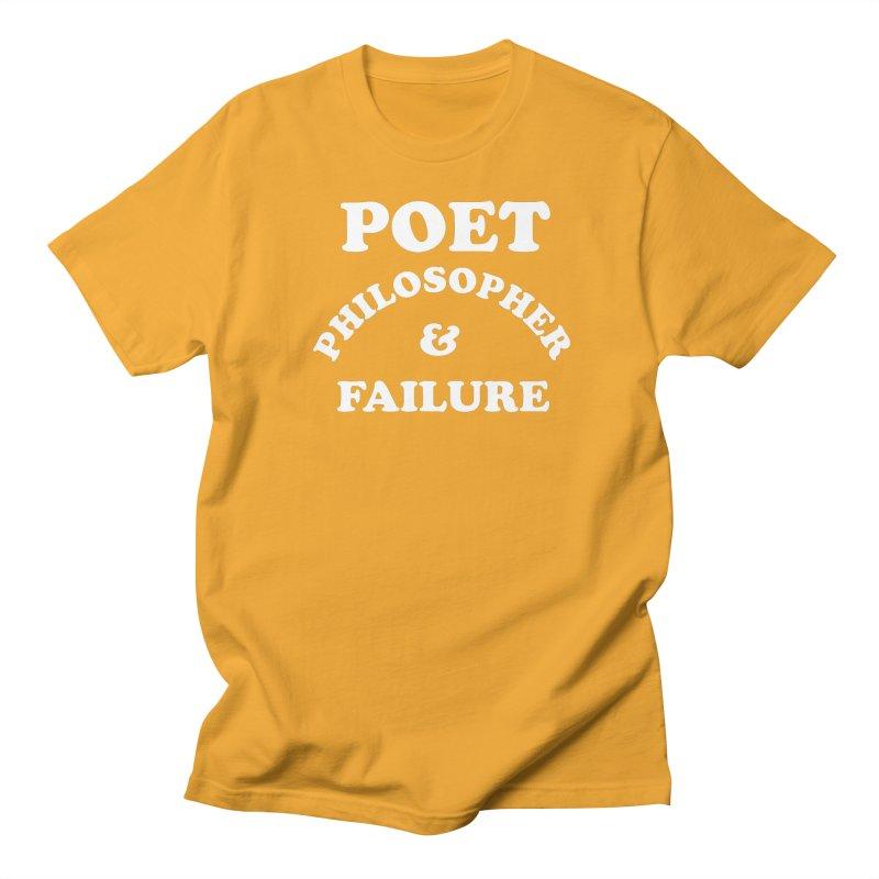 POET PHILOSOPHER & FAILURE (wht) Men's Regular T-Shirt by VOID MERCH