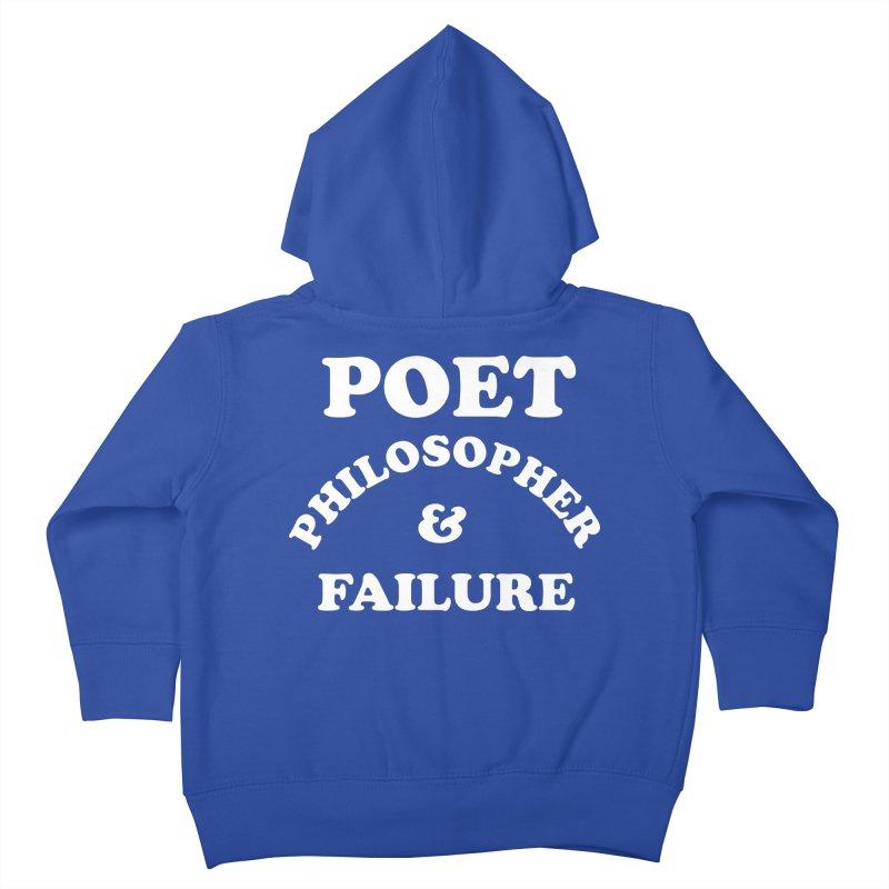 POET PHILOSOPHER & FAILURE (wht) Kids Toddler Zip-Up Hoody by VOID MERCH