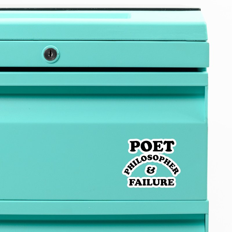 POET PHILOSOPHER & FAILURE (blk) Accessories Magnet by VOID MERCH