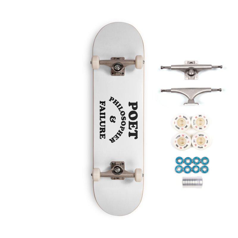 POET PHILOSOPHER & FAILURE (blk) Accessories Complete - Premium Skateboard by VOID MERCH