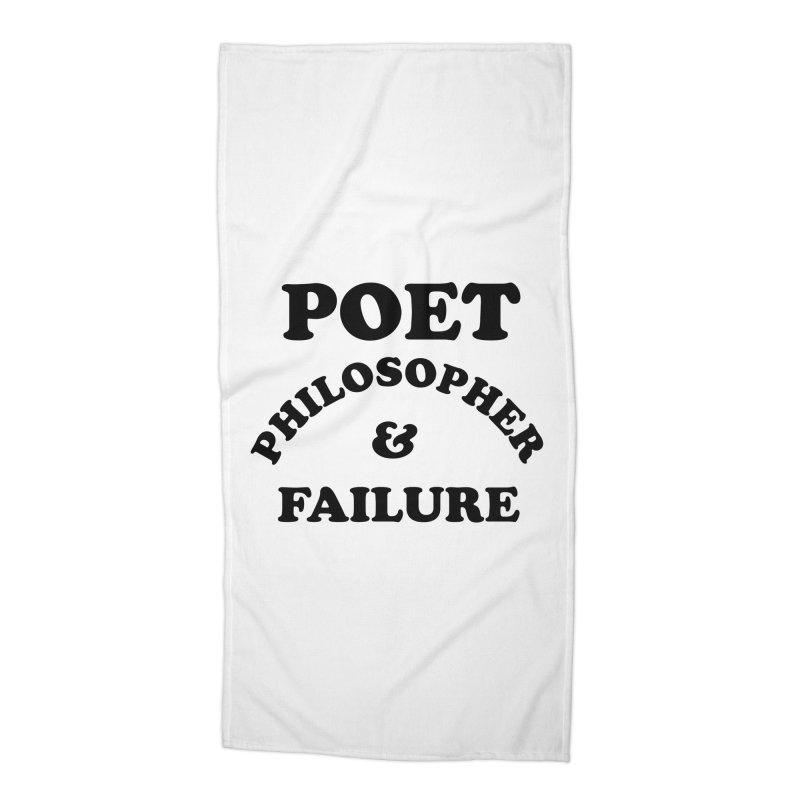 POET PHILOSOPHER & FAILURE (blk) Accessories Beach Towel by VOID MERCH
