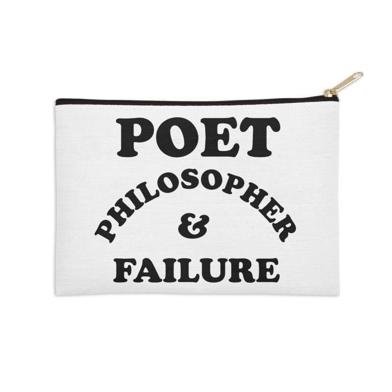 POET PHILOSOPHER & FAILURE (blk) Accessories Zip Pouch by VOID MERCH