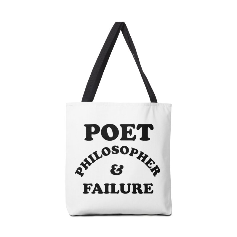 POET PHILOSOPHER & FAILURE (blk) Accessories Tote Bag Bag by VOID MERCH