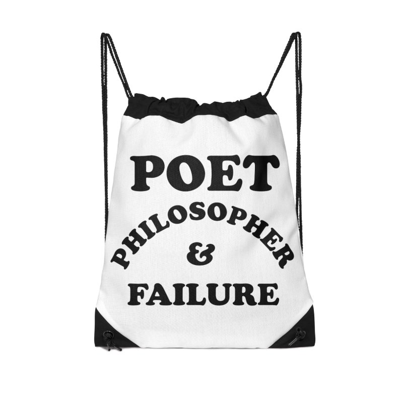 POET PHILOSOPHER & FAILURE (blk) Accessories Drawstring Bag Bag by VOID MERCH