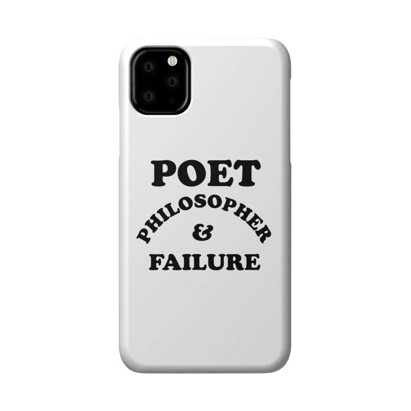 POET PHILOSOPHER & FAILURE (blk) Accessories Phone Case by VOID MERCH