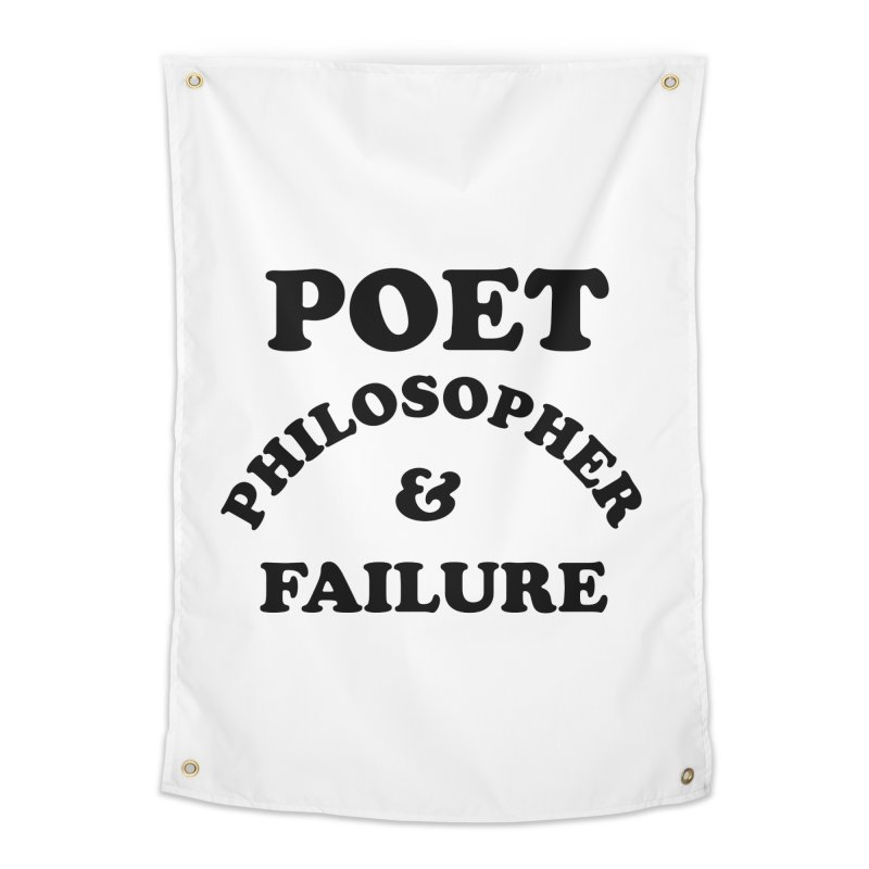 POET PHILOSOPHER & FAILURE (blk) Home Tapestry by VOID MERCH