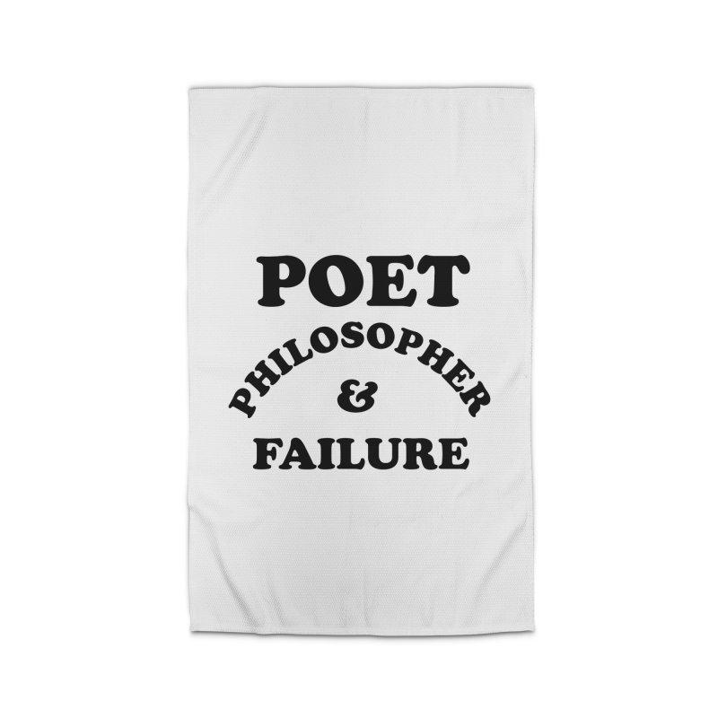 POET PHILOSOPHER & FAILURE (blk) Home Rug by VOID MERCH