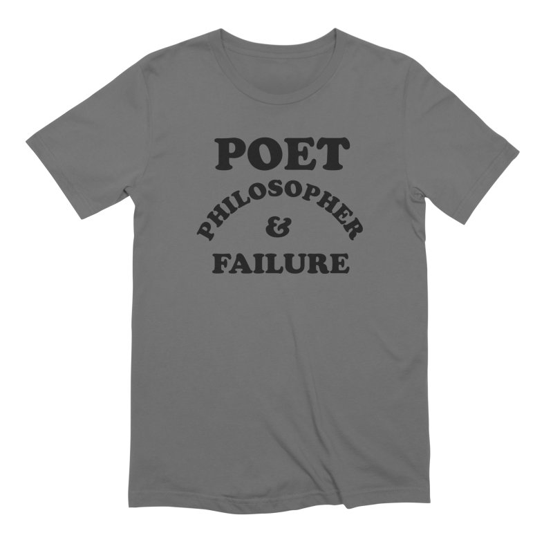 POET PHILOSOPHER & FAILURE (blk) Men's T-Shirt by VOID MERCH