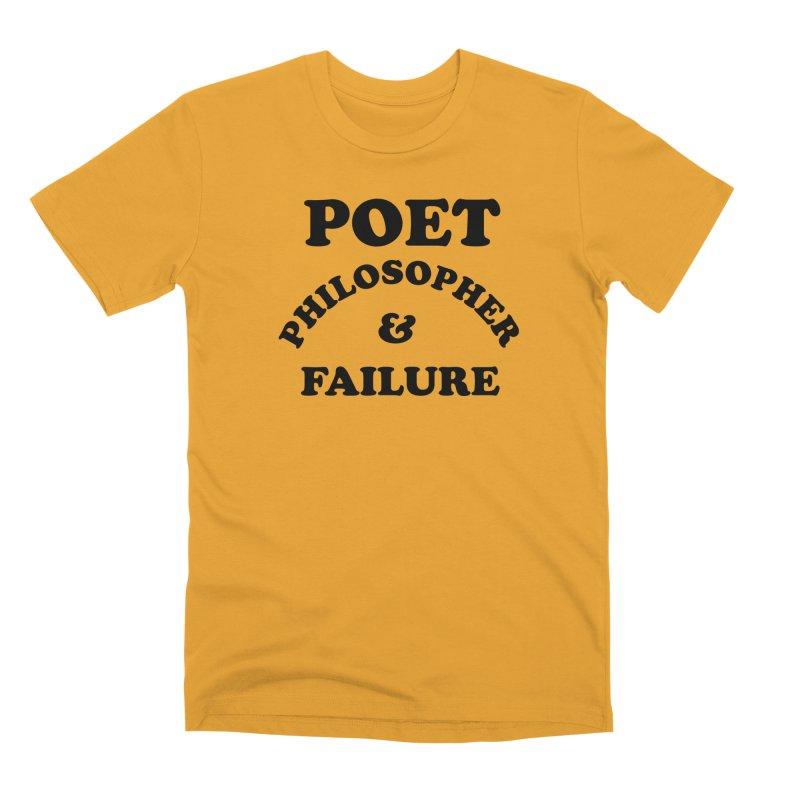 POET PHILOSOPHER & FAILURE (blk) Men's Premium T-Shirt by VOID MERCH