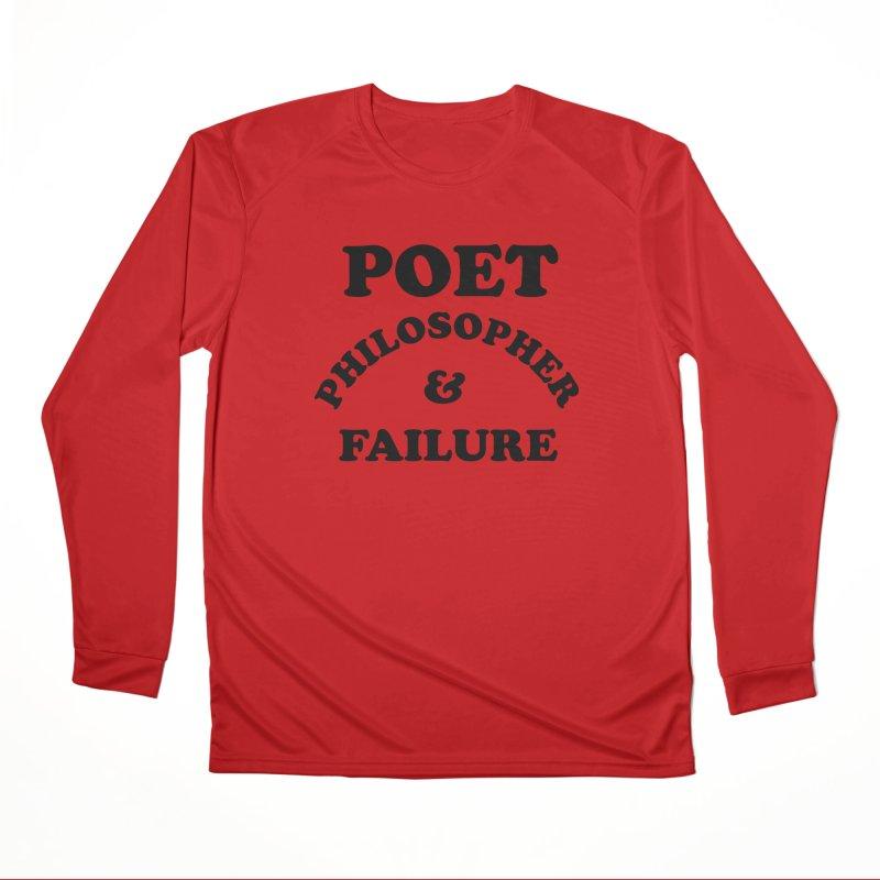 POET PHILOSOPHER & FAILURE (blk) Men's Performance Longsleeve T-Shirt by VOID MERCH