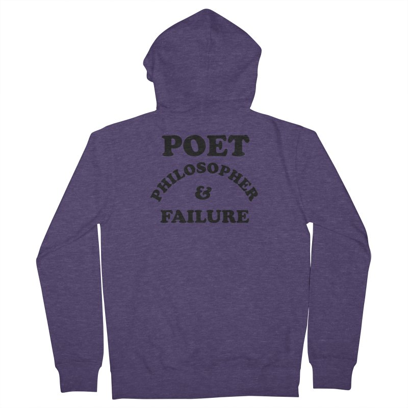 POET PHILOSOPHER & FAILURE (blk) Men's French Terry Zip-Up Hoody by VOID MERCH