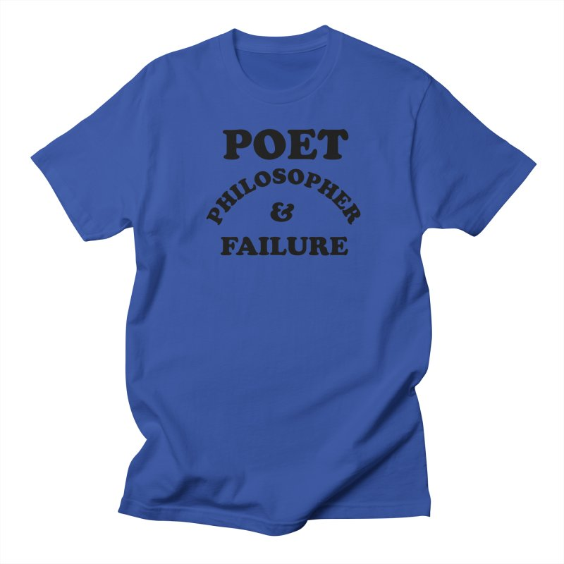 POET PHILOSOPHER & FAILURE (blk) Men's Regular T-Shirt by VOID MERCH