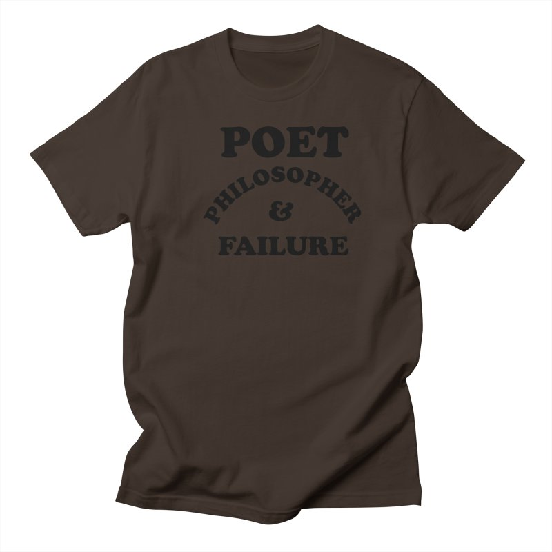 POET PHILOSOPHER & FAILURE (blk) Men's Regular T-Shirt by VOID MERCH