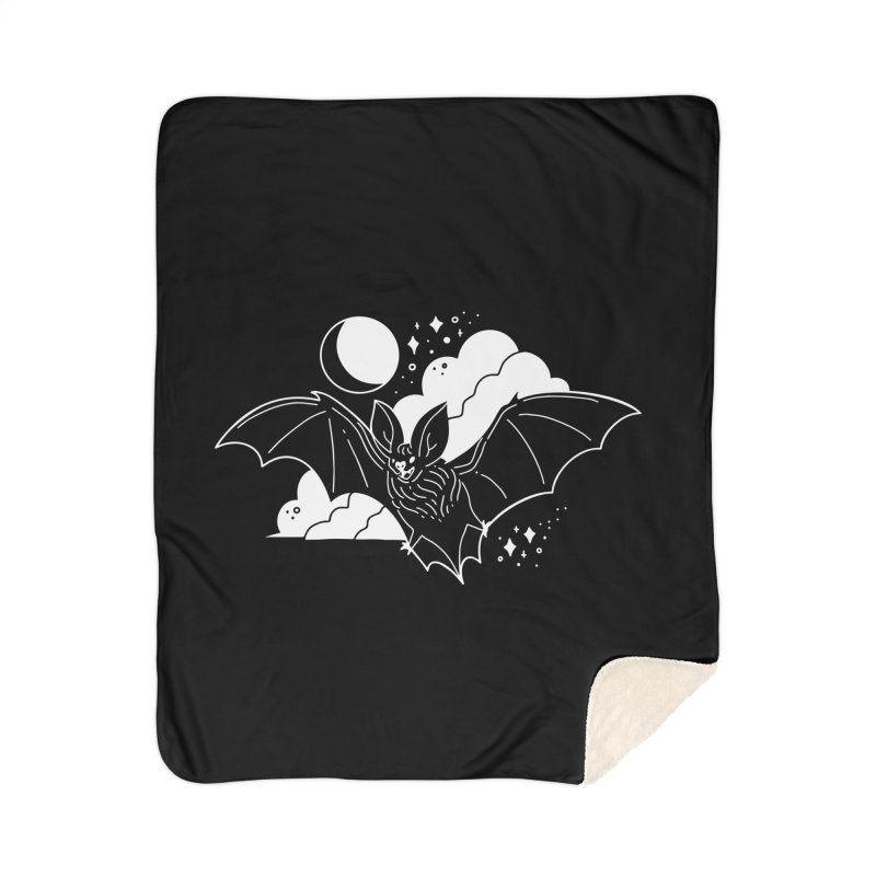 Creature of the Night (Ishii x Voidmerch) Home Sherpa Blanket Blanket by VOID MERCH