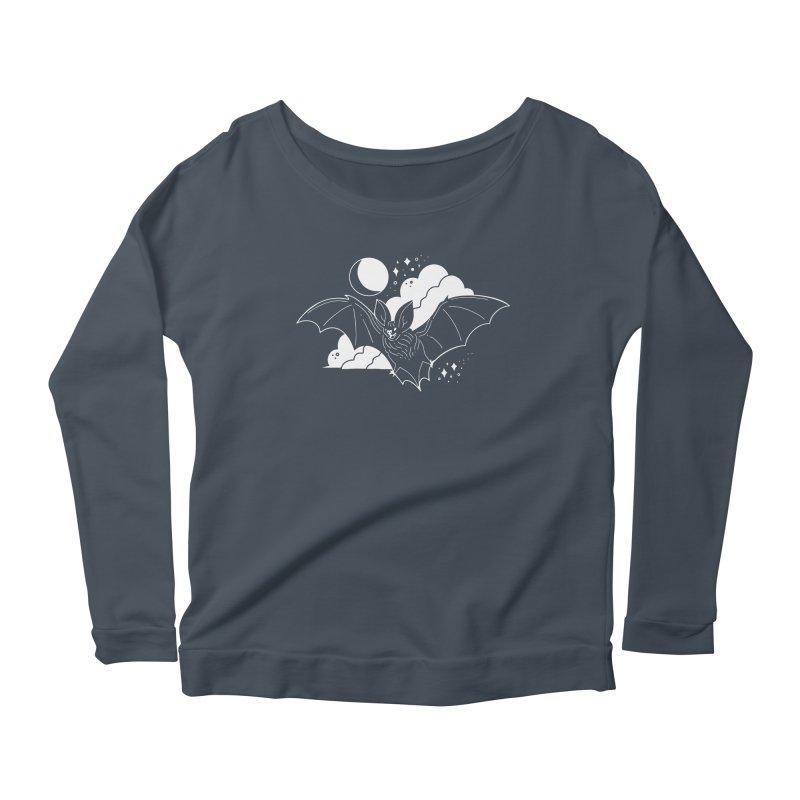 Creature of the Night (Ishii x Voidmerch) Women's Scoop Neck Longsleeve T-Shirt by VOID MERCH