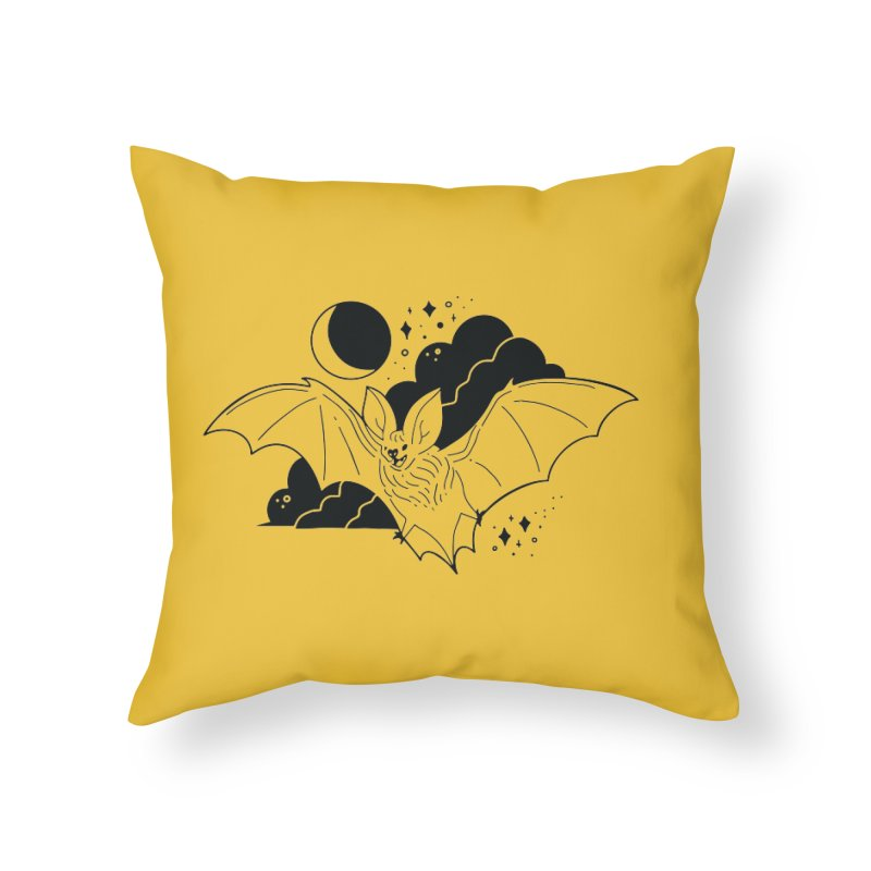 Creature of the Night (Ishii x Voidmerch) Home Throw Pillow by VOID MERCH