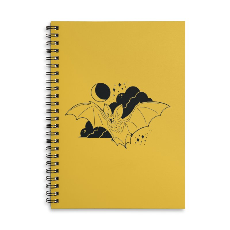 Creature of the Night (Ishii x Voidmerch) Accessories Lined Spiral Notebook by VOID MERCH