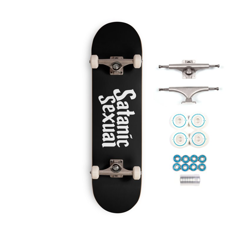 SATANIC SEXUAL (wht) Accessories Complete - Basic Skateboard by VOID MERCH