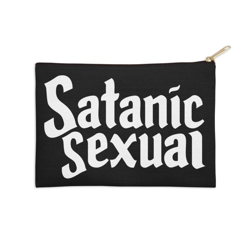 SATANIC SEXUAL (wht) Accessories Zip Pouch by VOID MERCH
