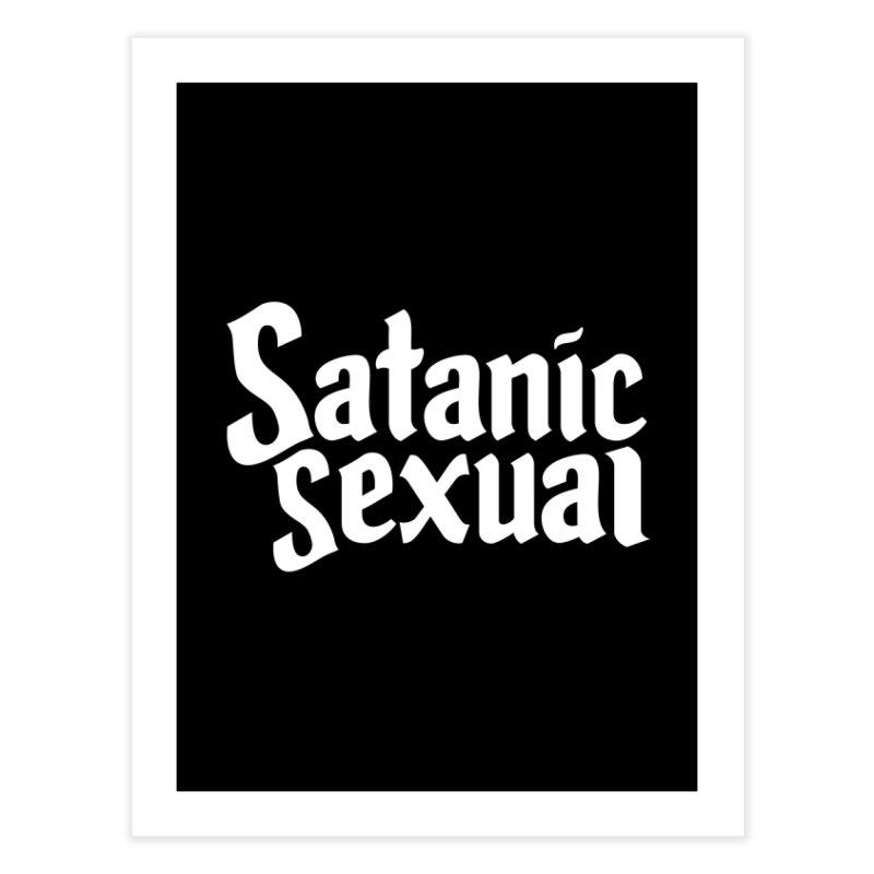 SATANIC SEXUAL (wht) Home Fine Art Print by VOID MERCH