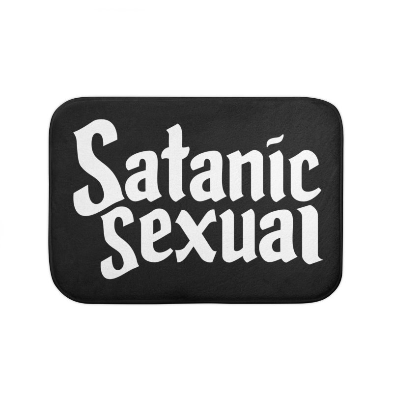 SATANIC SEXUAL (wht) Home Bath Mat by VOID MERCH