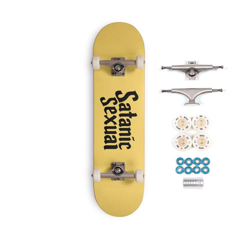 Satanic Sexual (blk) Accessories Complete - Premium Skateboard by VOID MERCH