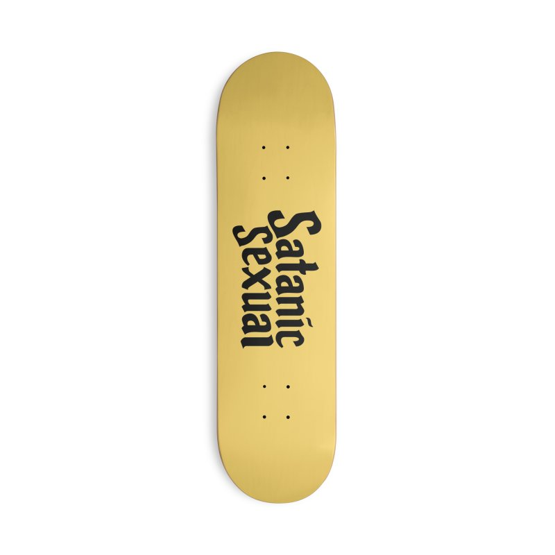 Satanic Sexual (blk) Accessories Deck Only Skateboard by VOID MERCH