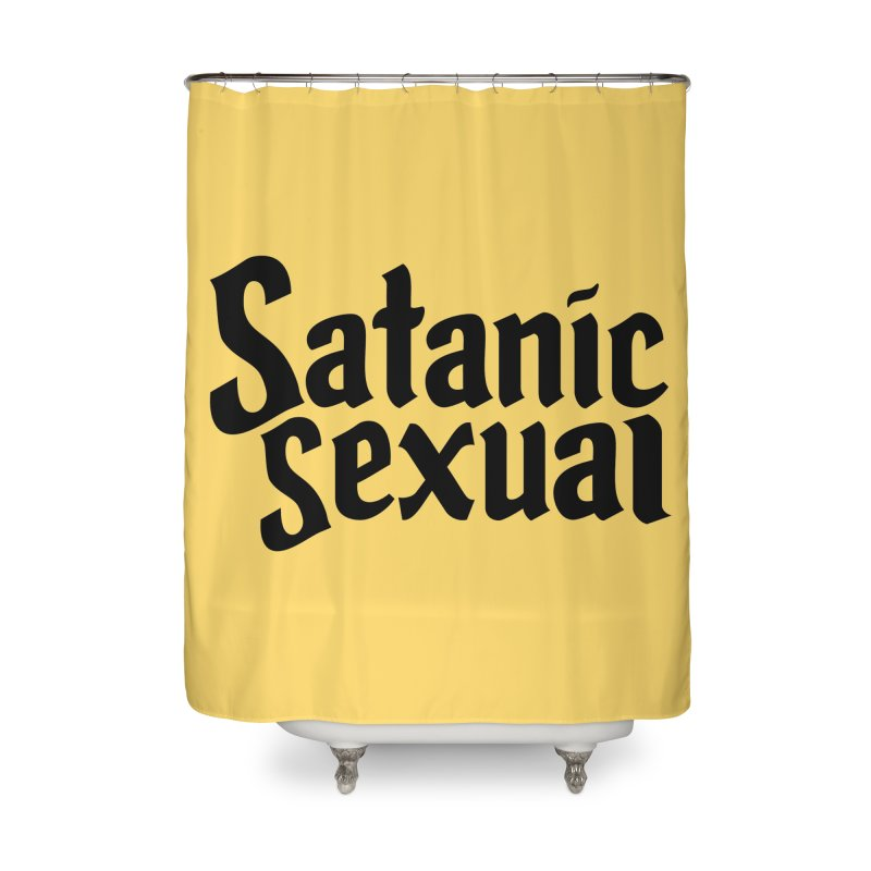 Satanic Sexual (blk) Home Shower Curtain by VOID MERCH