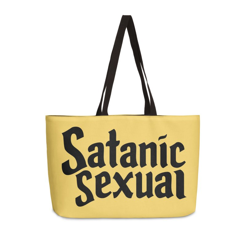 Satanic Sexual (blk) Accessories Weekender Bag Bag by VOID MERCH