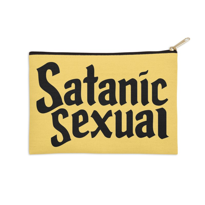 Satanic Sexual (blk) Accessories Zip Pouch by VOID MERCH