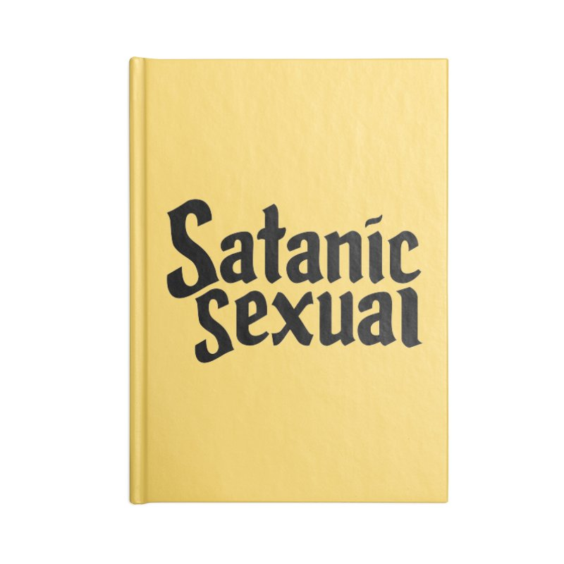 Satanic Sexual (blk) Accessories Blank Journal Notebook by VOID MERCH
