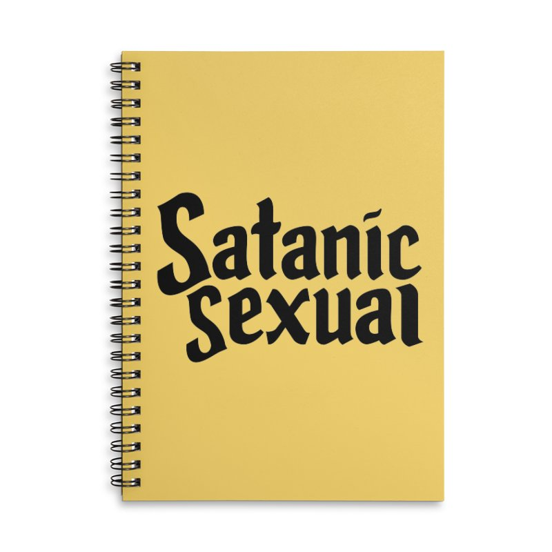 Satanic Sexual (blk) Accessories Lined Spiral Notebook by VOID MERCH