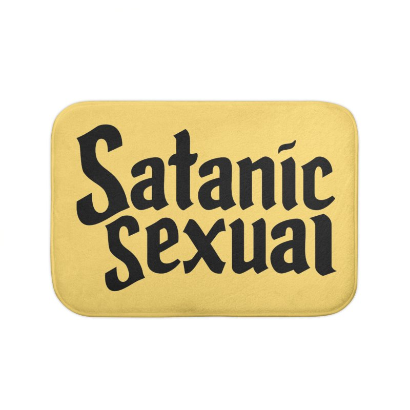 Satanic Sexual (blk) Home Bath Mat by VOID MERCH