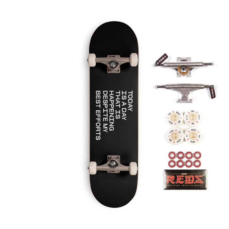 TODAY IS A DAY (wht) Accessories Complete - Pro Skateboard by VOID MERCH