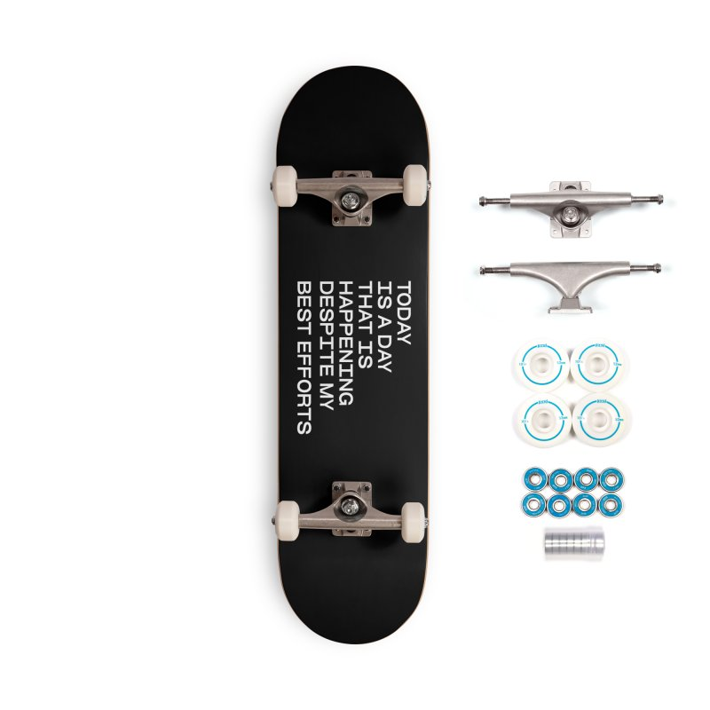 TODAY IS A DAY (wht) Accessories Complete - Basic Skateboard by VOID MERCH