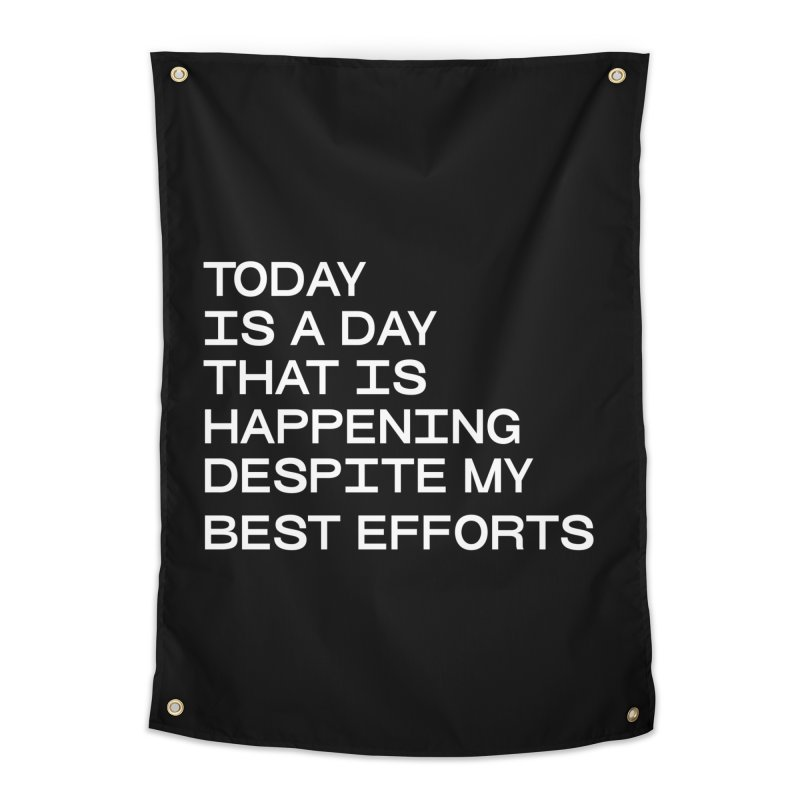 TODAY IS A DAY (wht) Home Tapestry by VOID MERCH