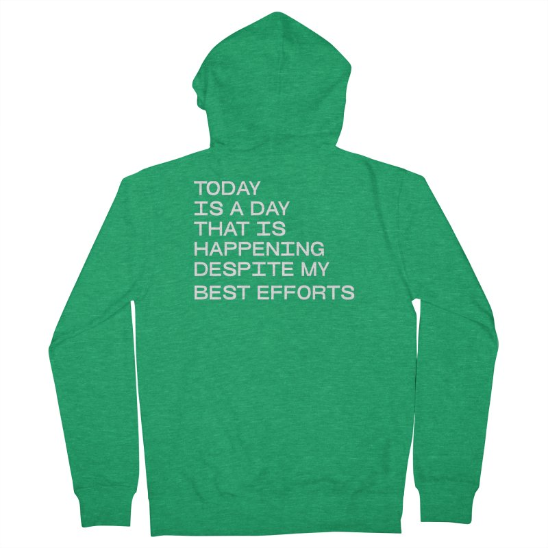 TODAY IS A DAY (wht) Men's French Terry Zip-Up Hoody by VOID MERCH