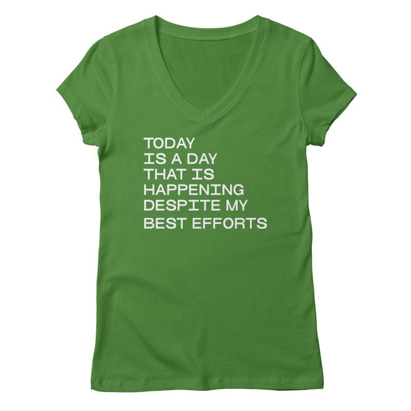 TODAY IS A DAY (wht) Women's Regular V-Neck by VOID MERCH